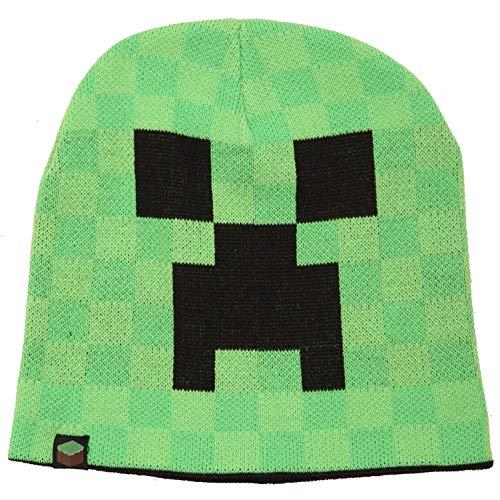 JINX Minecraft Creeper Face Knit Beanie (Green, -