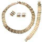 Moochi Africa Style String Connected 2-Tones Coins Costume Party Fashion Necklace Jewelry Set