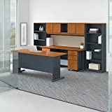 Bush Business Furniture Office Suite SRA071NCSU, Natural Cherry and Slate