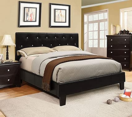 Amazon Velen Collection Contemporary Leatherette Padded Tufted Extraordinary Contemporary Bedroom Colors Style