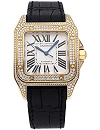 Santos Mechanical (Automatic) Silver Dial Womens Watch WM502051 (Certified Pre-Owned). Cartier