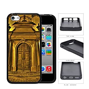 Chateau Gold Castle Door Rubber Silicone TPU Cell Phone Case Apple iPhone 5c
