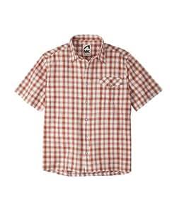 Mountain Khakis Men's Oxbow Short Sleeve Shirt, Russet/Lily White, Small
