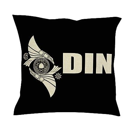 CCMugshop Funda de cojín con diseño de Cuervo de Odins, Dos Huginn ...