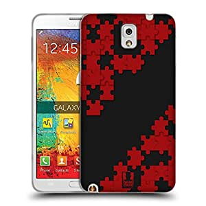 Head Case Designs Red Puzzle Pieces Gel Back Case Cover for Samsung Galaxy Note 3 N9000 N9002 N9005