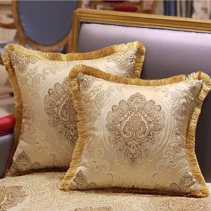 G Home Collection Luxury Gold Verona Pillow Cover Embellished With Trim 20