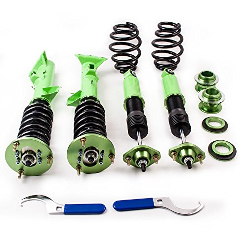 Coilovers for 1999-2005 BMW E46 328 325 330 Dampers Springs Lowering Green Bmw 328 Series Shocks
