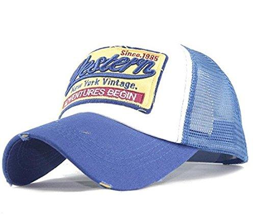 para Béisbol Ecovers de Gorra Mujer Bordada Malla de Azul Hombre y EqYRqf