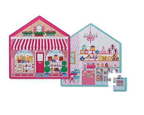 Amazon.com: Crocodile Creek Two-Sided Little Sweet Shop Puzzle (24 Piece), Purple/Pink/Teal/Green/Blue: Toys & Games