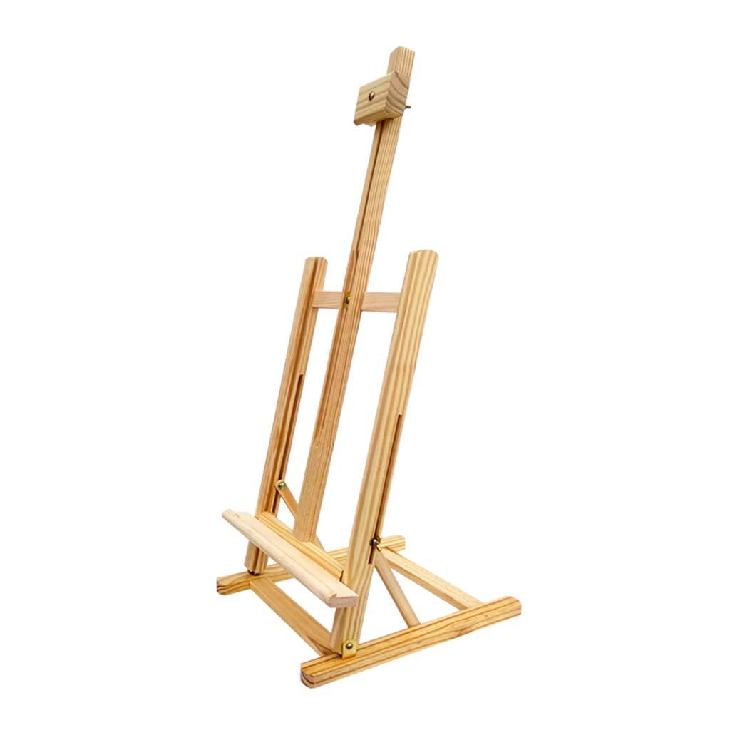 YYHSND 卓上 持ち上げ イーゼル お絵かきボード フレーム 折りたたみ ブラシ ソリッド 木製 ブラケット イーゼル   B07R3DQNMF
