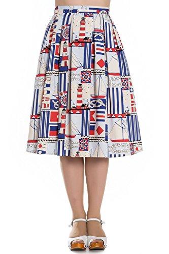 Hell-Bunny-Lighthouse-Boat-Rockabilly-40s-50s-Skirt