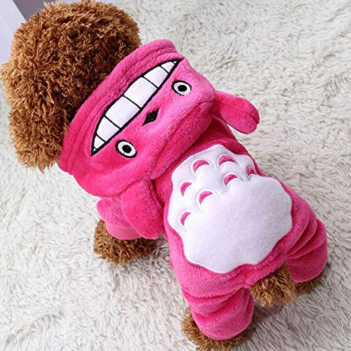 HBK2 Cute Pet Cat Dragon Costume Winter Warm Clothes for Cats Dogs Clothing Goods for Pets Products Katten Kleding Mascotas Ropa Gato ()