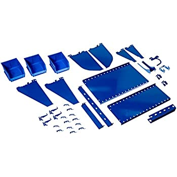 Wall Control Slotted Tool Board Workstation Accessory Kit Pegboard and Slotted Tool Board - Blue