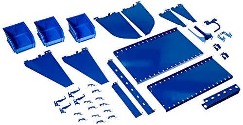 Price comparison product image Wall Control KT-400-WRK BU Slotted Tool Board Workstation Accessory Kit for Wall Control Pegboard Only,  Blue