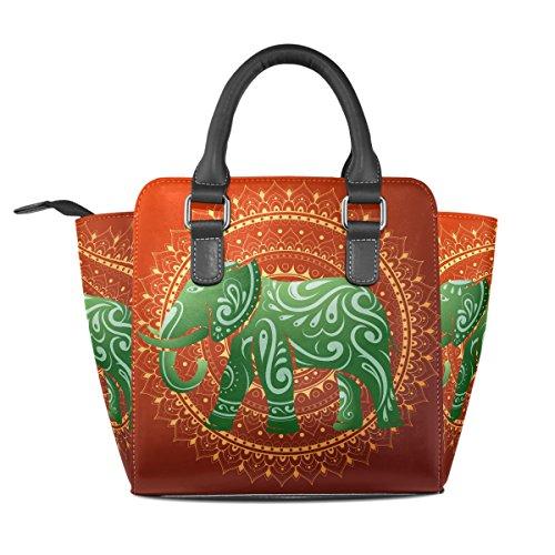 Coosun Donna Elefante Indiano Ornamento Etnico Borsa A Tracolla In Pelle Pu Borsa A Mano Tote Borsa A Tracolla