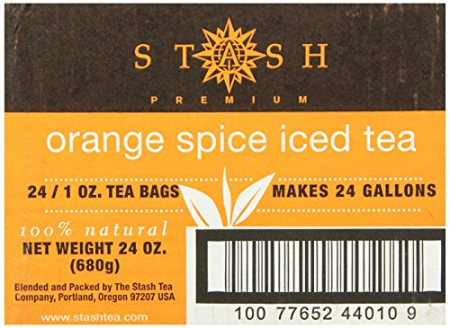 Stash Tea Orange Spice Black Tea 1 Ounce Iced Tea Brew Bags (Pack of 24) Individual Black Tea Bags for Use in Teapots Mugs or Cups, Brew Hot Tea or Iced Tea ()