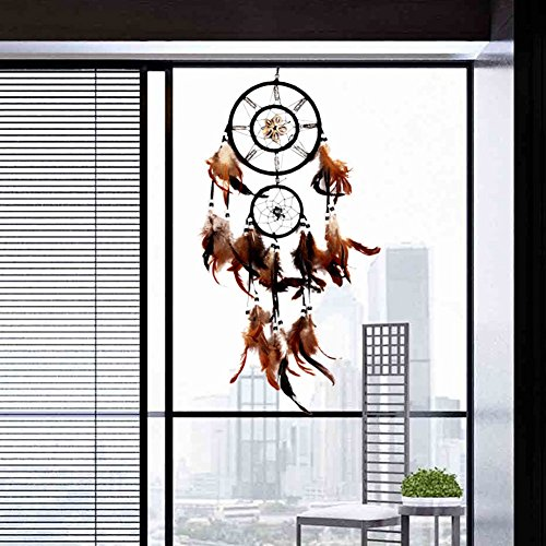 UNAKIM--Handmade Dream Catcher With feathers Wall Hanging Decoration Ornament Gift Shell (Lamp United Bedroom Manchester)