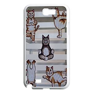Yoga Cats DIY Cover Case for Samsung Galaxy Note 2 N7100,personalized phone case ygtg572405