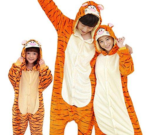 Tigger Pajama Costumes (Halloween Cosplay Costume Kigurumi Pajamas Tigger Family Matching SleepWear)