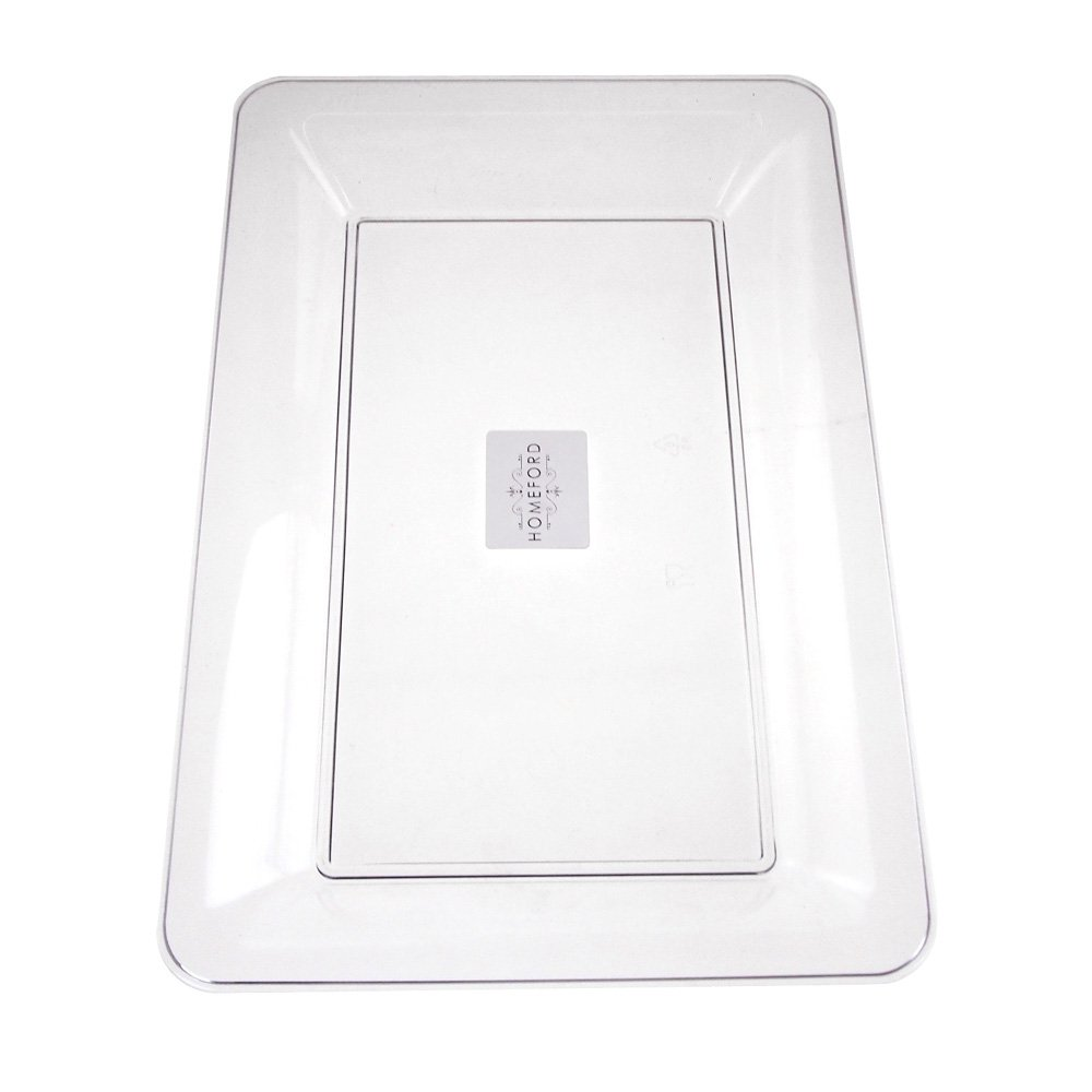 Homeford Clear Plastic Rectangle Serving Tray, 14-1/2-Inch