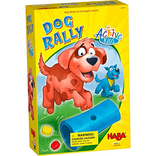 HABA Dog Rally Active Kids - an Active Get Up and Move Game for Ages 4+ (Made in Germany) by HABA