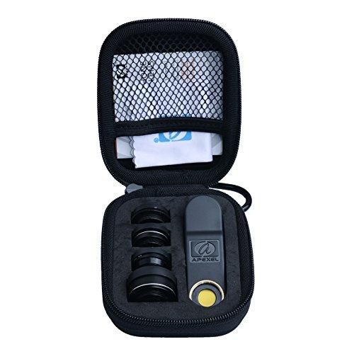 スマホカメラレンズキット クリップ式 5点セット(198度魚眼レンズ 広角レンズ マクロレンズ ズームレンズ 偏光レンズ) スマートフォン タブレットPC用