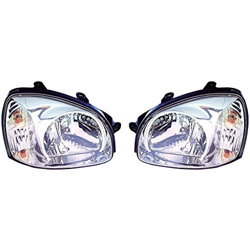 Fits Hyundai Santa Fe 7/14/03-2006 Headlight Assembly Pair Driver and Passenger Side (NSF Certified) HY2502134, HY2503134