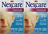Nexcare Opticlude Orthoptic Eye Patches, Regular Size, 20-Count (Pack of 2) by Nexcare