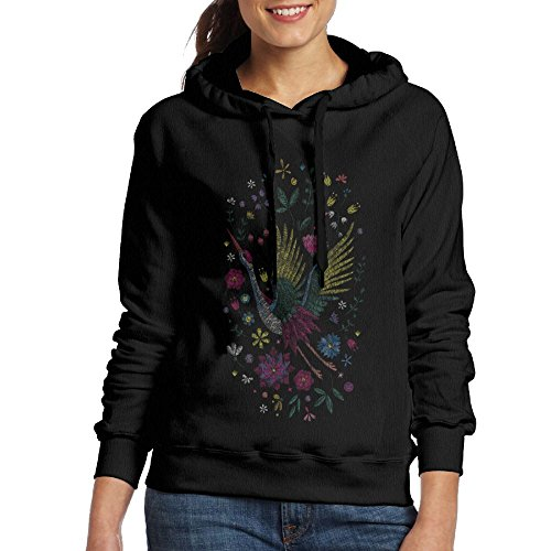 Shidu° Red-Crowned Crane Embroidery Unique Vintage Flowers Hoodies - Maverick Men Blog