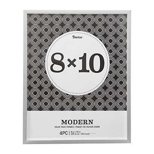 - Darice Modern Frame Set: 8 x 10 inches, Silver, 4pcs