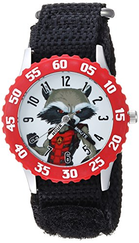 Marvel Boy's 'Guardian' Quartz Stainless Steel and Nylon Casual Watch, Color:Black (Model: WMA000135)