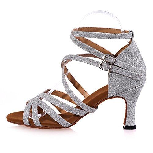 L Alto Tacón Latín Zapatos Mujer Zapato Red Para De Profesional yc Interior Principiante rqwBIr