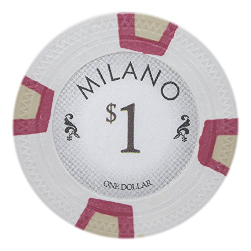 Pro Poker Poker Clay (Claysmith Gaming Milano Poker Chip Lightweight 10-Gram Casino Clay - Pack of 50 ($1 White))