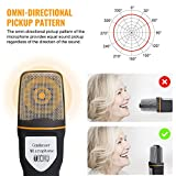 Tonor USB Professional Condenser Sound Podcast Studio Microphone for PC Laptop Computer Apple Mac Upgraded Version - Plug and play, Black