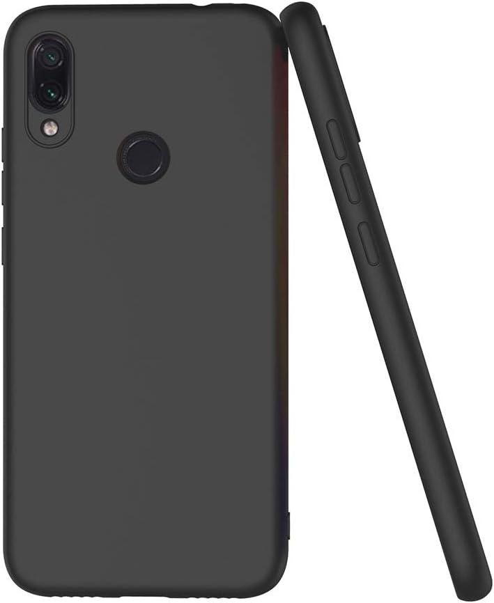 AICEK Coque Xiaomi Redmi Note 7 6,3 Pouces Noir Silicone Coque pour Redmi Note 7 Housse Xiaomi Redmi Note 7 Noir Silicone Etui Case