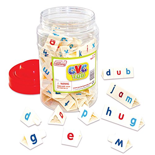 Junior Learning CVC Tri-Blocks Tub Word Building -