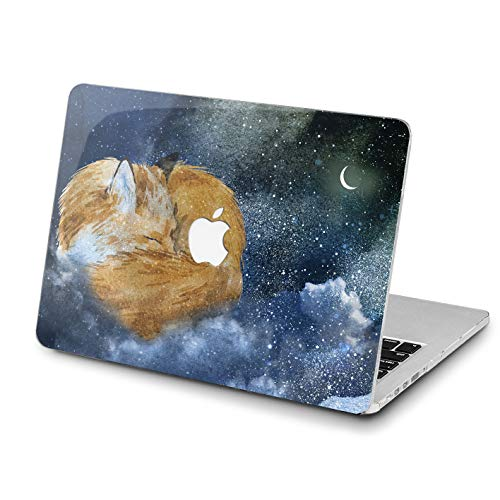 Lex Altern Newest MacBook Mac 15 Pro Air 13 inch 11 12 2018 Night Clouds Moon Case A1989 A1708 Fox Unique Natural Stars 2017 Retina Luxury Cover Women Hard Shell Apple 2017 2016 Touch Bar Print Glam