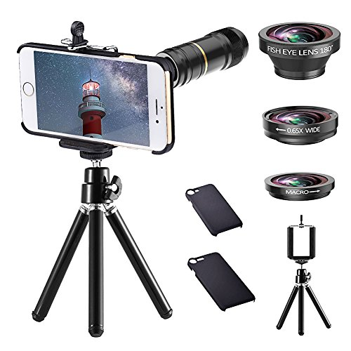 Cheap Lens Attachments iPhone Camera Lens Kit - ARORY HD 4 in 1 Telephoto Lens..