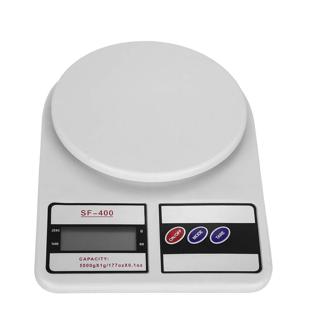 Báscula de cocina Mini profesional electrónica alimentos Digital Capacidad Mode Volume leche agua pequeña precisión gramo escala 5 kg/1g oz 2 pilas, ...