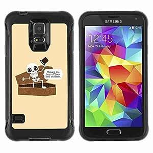 A-type Arte & diseño Anti-Slip Shockproof TPU Fundas Cover Cubre Case para Samsung Galaxy S5 V / SM-G900 ( Funny Bad Situation Skeleton )