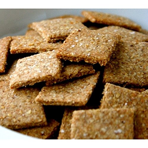 Low Carb Chia Crackers - Fresh Baked - LC Foods - All Natural - Gluten Free - No Sugar - High Protein - Diabetic Friendly - Low Carb Crackers - 7.2 oz