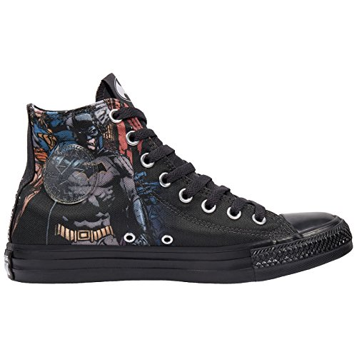 Converse Chuck Taylor All Star Hi DC Comics Sneaker (Mens 5/Womens 7, Batman Black/White/Black 001 - Cap Print Converse