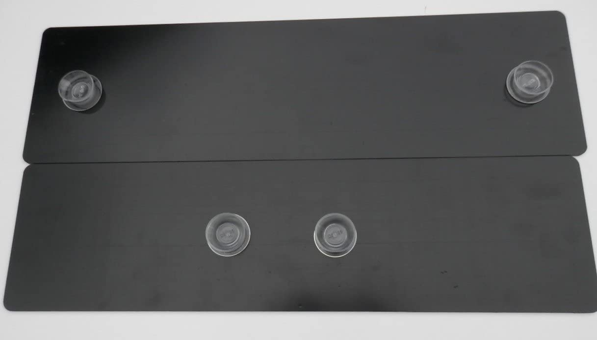 SHOWROOM SHOW DISPLAY NUMBER PLATE SUCTION CUPS LOW PROFILE 35MM BOTH SIDES NO