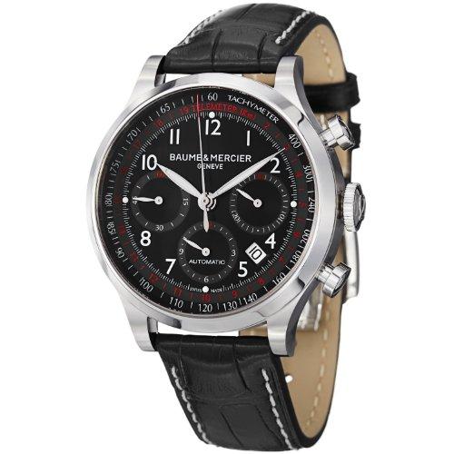 Baume-Mercier-Mens-BMMOA10084-Capeland-Analog-Display-Swiss-Automatic-Black-Watch
