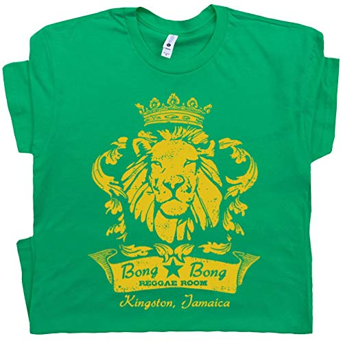 XXXL - Reggae Bar T Shirts Music Shirt Bob Lion Graphic Pub Marley Jamaica Brazil Rasta Band Vintage Tee Green