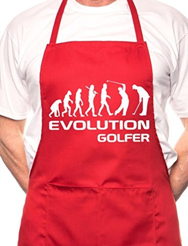 Print4u Golf Evolution Of Sports BBQ Cooking Funny Novelty Apron (Golf Bbq Sports Apron)