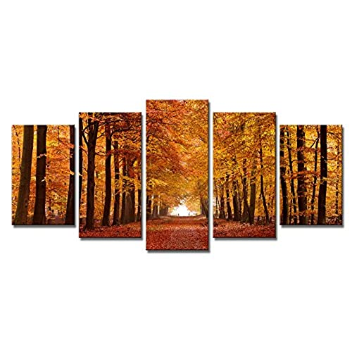 prints for office walls. Wieco Art Autumn Forest Giclee Canvas Prints Wall Paintings For Living Room Bedroom Home Office Decorations Modern 5 Piece Stretched And Walls I