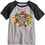 Jumping Beans Boys 4-10 Nintendo Super Mario Bros. Raglan Graphic Tee 4 Heather Gray
