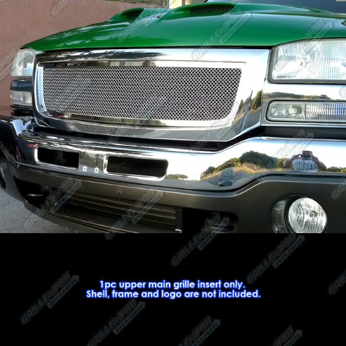 - APS Fits 2003-2006 GMC Sierra Stainless Mesh Grille Insert #G76797T