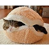 Cat Bed Cave,Petforu Outdoor Indoor Windproof Waterproof Removable Pet Cat Bed House Cat Burger Cat Tents Thermal Cat Bed Shark Bed For Cat